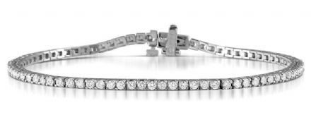 18K White Gold G/VS Diamond Tennis Bracelet 2.00Carat